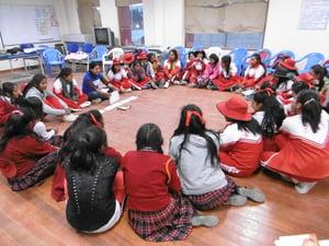Taller con adolescentes mujeres - Sto Tomas - zona quechua