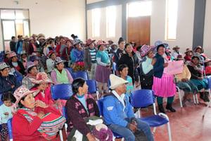 Taller con padres-madres - Sto Tomas - zona quechua 1